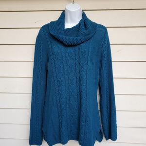 Jeanne Pierre Cable Knit Tunic Sweater